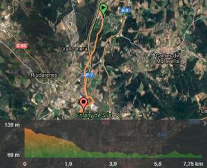 mapa ruta bici PGA Sils