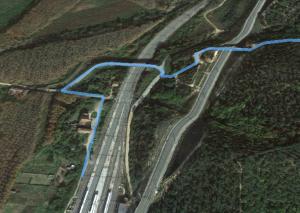 ruta en bici maçanet sils