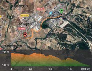 mapa i altimetria la rapita