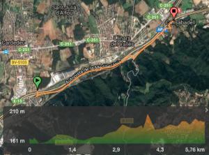 mapa cardedeu collsabadell bici
