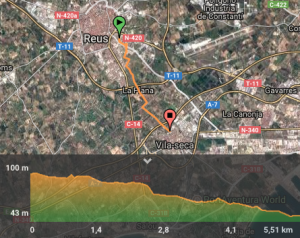 mapa reus bici