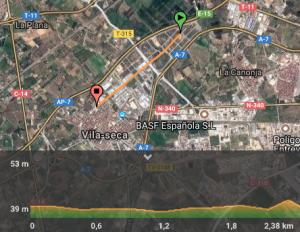 mapa vila seca