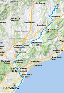 mapa tram 1