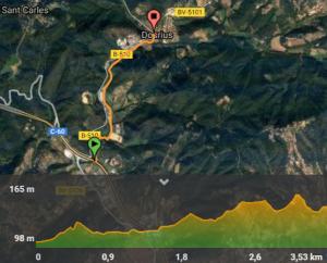 mapa dosrius bici cyclocat