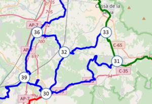 mapa girones la selva amb nodes