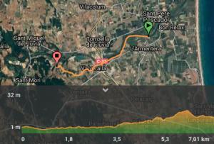 mapa fluvia ruta bici