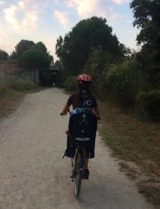 bellaterra carril bici amb nens
