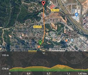 mapa bellaterra
